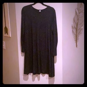 Dark grey long Sleeve Dress